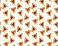 Purim hamantaschen il modello senza cuciture Piatto tradizionale ebreo sulla festa di fondo senza fine, struttura, carta da parat royalty illustrazione gratis