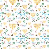 Purim holiday, background with festive symbols, vector royalty free illustration