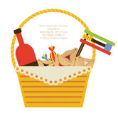 Purim holiday gifts with hamantaschen cookies and candy Stock Image