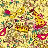 Purim holiday seamless pattern Stock Photo