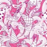 Purim holiday seamless pattern Stock Image
