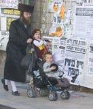 Purim i Mea Shearim Royaltyfri Fotografi