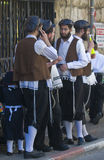 Purim i Mea Shearim Royaltyfria Bilder