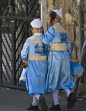 Purim in Mea Shearim Lizenzfreie Stockfotos