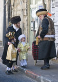 Purim in Mea Shearim Royalty Free Stock Photos