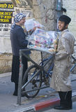 Purim in Mea Shearim Royalty Free Stock Photography