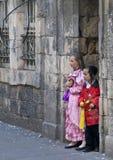 Purim in Mea Shearim. JERUSALEM - MARS 09 : Ultra Orthodox costumed children during Purim in Mea Shearim Jerusalem on Mars 09 2012 , Purim is a Jewish holiday Stock Image