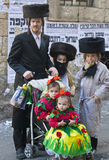 Purim in Mea Shearim Stock Afbeelding