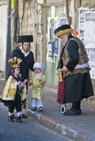 Purim in Mea Shearim Stock Images