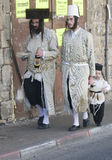 Purim in Mea Shearim. JERUSALEM - MARS 09 : Ultra Orthodox family during Purim in Mea Shearim Jerusalem on Mars 09 2012 , Purim is a Jewish holiday celebrates Stock Photography