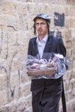 Purim in Mea Shearim Stockfoto