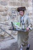 Purim in Mea Shearim Stockbild