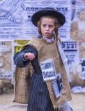 Purim in Mea Shearim Lizenzfreie Stockbilder