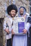 Purim in Mea Shearim Stockfotos