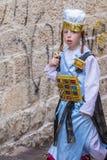 Purim in Mea Shearim Royalty Free Stock Image