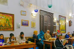 Purim in the old Abuhav synagogue, Safed Tzfat, Israel Stock Photo
