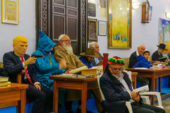 Purim in the old Abuhav synagogue, Safed Tzfat, Israel Royalty Free Stock Photo