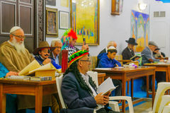 Purim in the old Abuhav synagogue, Safed Tzfat, Israel Royalty Free Stock Images