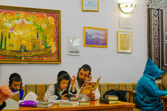Purim in the old Abuhav synagogue, Safed Tzfat, Israel Stock Images