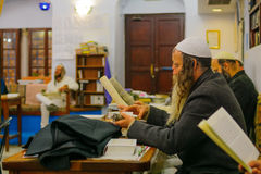 Purim in the old Abuhav synagogue, Safed Tzfat, Israel Stock Photos