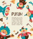 Purim template design, Jewih holiday Stock Photography