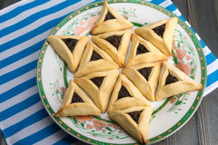 Purim - traditional cookies hamantaschen or Haman's ears Stock Images