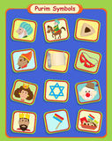 Purimsymbolen stock illustratie