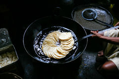 Puris prepared in oil Royalty Free Stock Photos