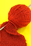 Purl stitch closeup Stock Photo