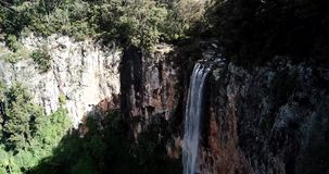 Purlingbrook Falls in Springbrook National Park. Purling brook Falls at Springbrook National Park in Queensland stock footage