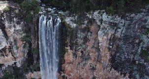 Purlingbrook Falls in Springbrook National Park. Purling brook Falls at Springbrook National Park in Queensland stock video