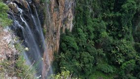 Purling Brook waterfall hidden in the middle of Springbrook National park, Australia. Purling Brook waterfall hidden in the middle of Springbrook National park stock image