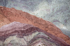 Purmamarca, colorful mountains in Argentina Stock Images