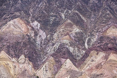 Purmamarca, colorful mountains in Argentina Royalty Free Stock Image