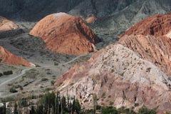 purmamarca för kull för 7 cerro colores Fotografering för Bildbyråer