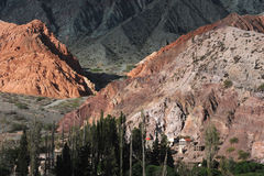 purmamarca för kull för 7 cerro colores Royaltyfri Foto