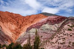 Purmamarca, hill of the seven colours, Argentina Stock Photos