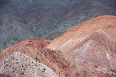 Purmamarca, kolorowe góry w Argentyna Fotografia Stock