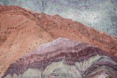 Purmamarca, kolorowe góry w Argentyna Fotografia Royalty Free