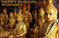 Purnima feliz de Buda con un icono Foto de archivo
