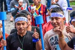 Puro Chapin, Día de la Independencia, Antigua, Guatemala de la soja Imagen de archivo libre de regalías
