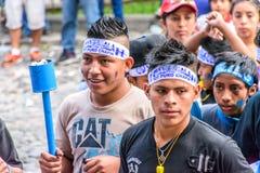 Puro Chapin, festa dell'indipendenza, Antigua, Guatemala della soia Immagini Stock Libere da Diritti