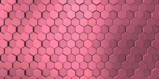 Purper beeld van decoratieve die metaalhulp door de unie van zeshoeken wordt gevormd royalty-vrije illustratie