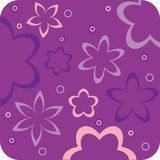Purper bloemen retro behang Stock Foto