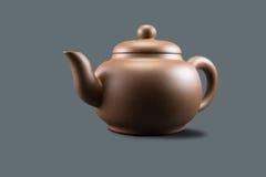 Purper Clay Teapot Stock Foto's