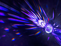 Purper Crystal Ball Refractions Stock Afbeelding