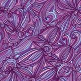 Purper de lijn naadloos patroon van de bloemcirkel stock illustratie