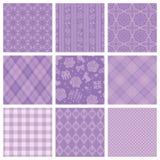 Purper decoratief patroon. Stock Fotografie