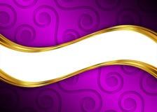Purper en gouden abstract malplaatje als achtergrond voor website, banner, adreskaartje, uitnodiging Stock Afbeeldingen