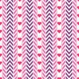 Purper en roze vectorchevron en lintpatroon vector illustratie